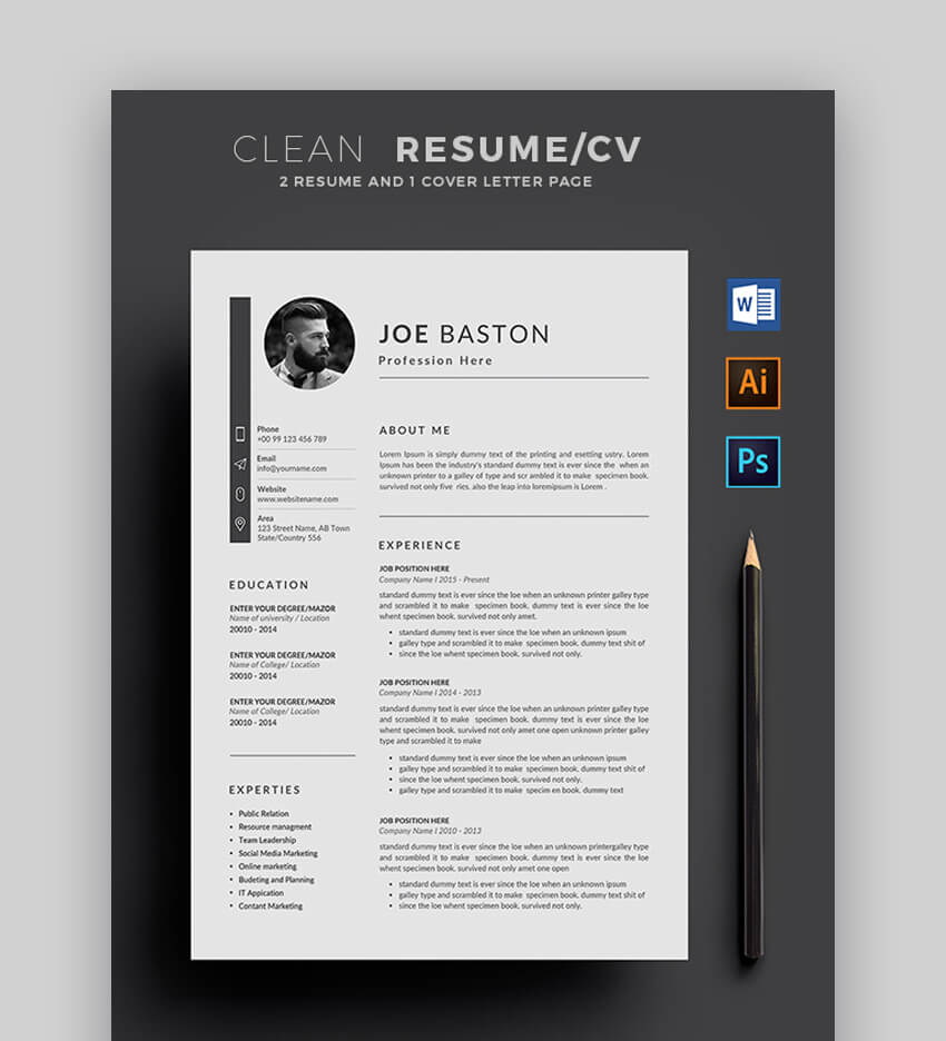 Pdf Free Resume Templates Download