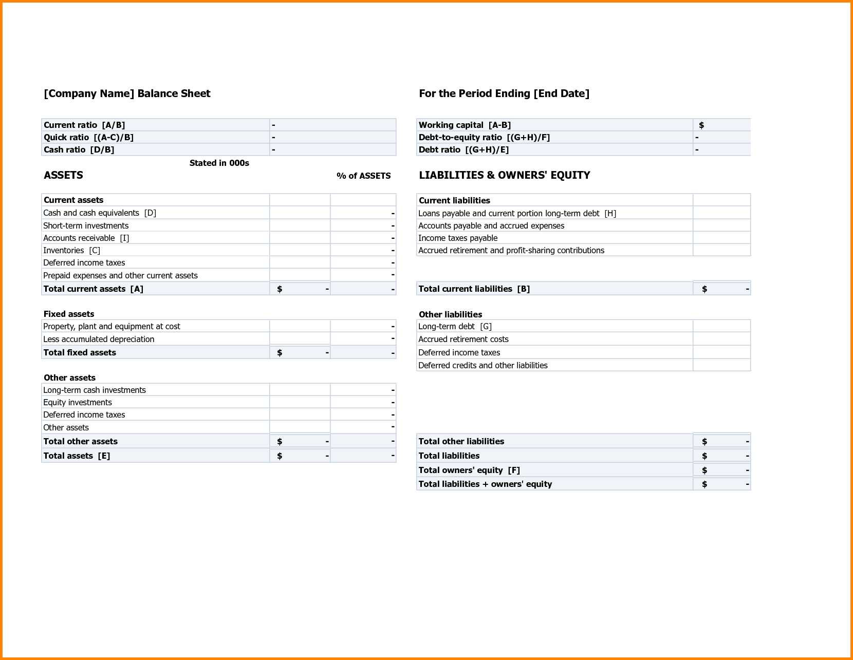 Financial Statement Template Xls Then Balance Sheet Template Xls And Projection With Google Spreadsheet