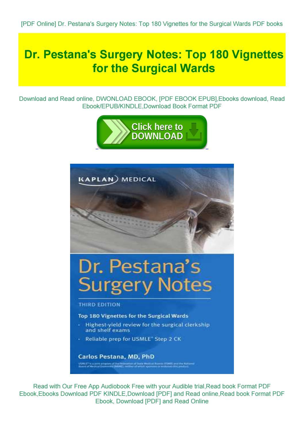 Pestana's Surgery Notes Pdf