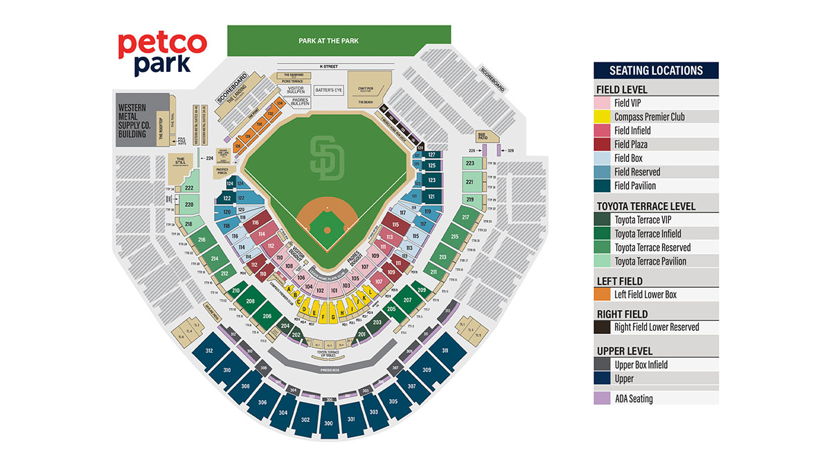Petco Park Seating Chart Pdf