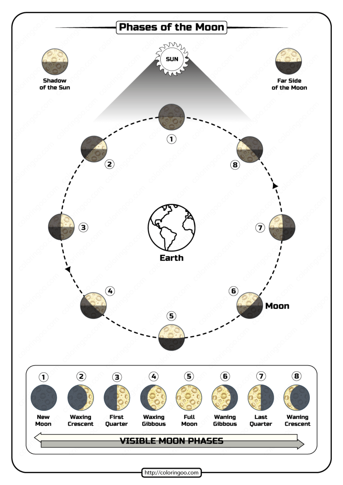 Phases Of The Moon Worksheet Pdf