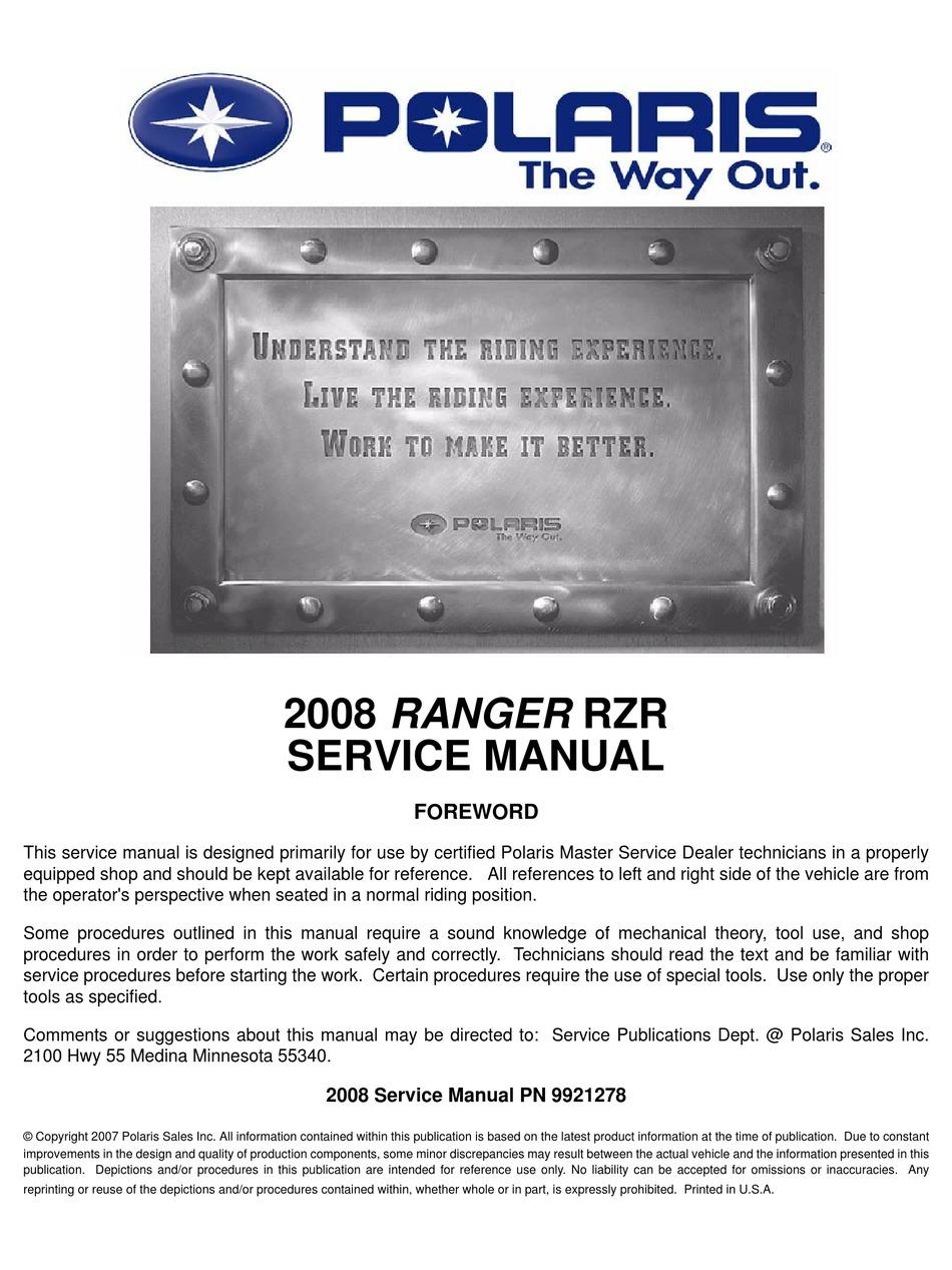Polaris Ranger Service Manual Pdf
