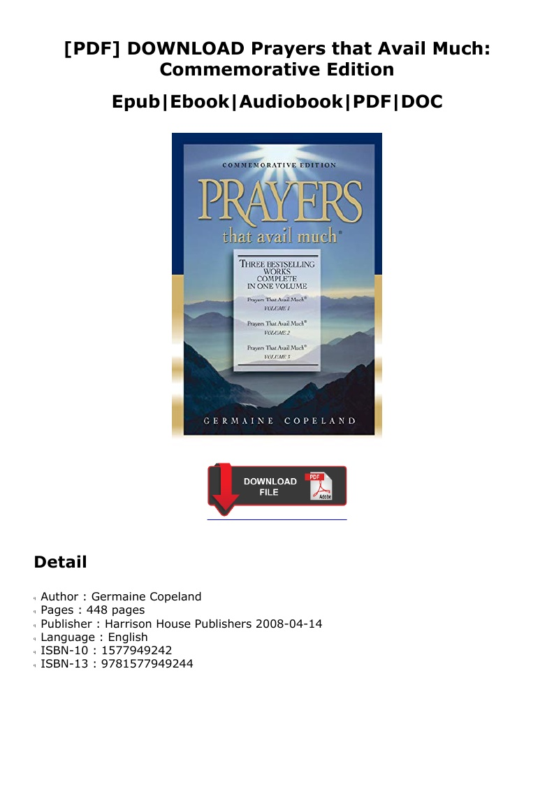Prayers That Avail Much Pdf Download