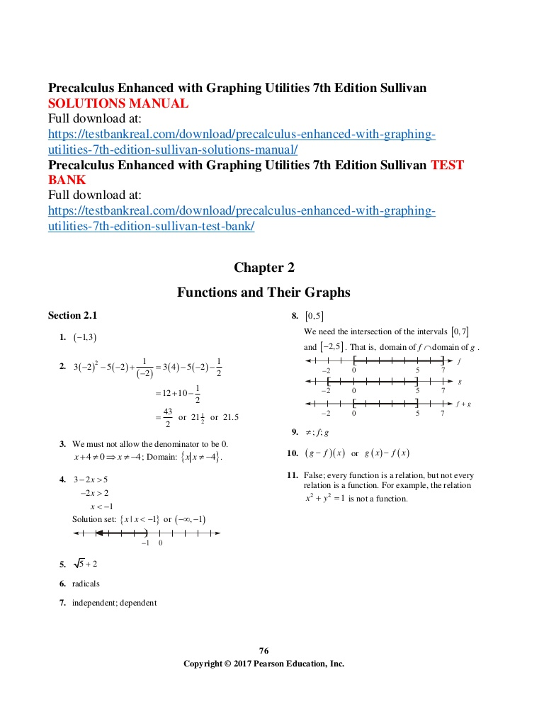 Precalculus Enhanced With Graphing Utilities Pdf