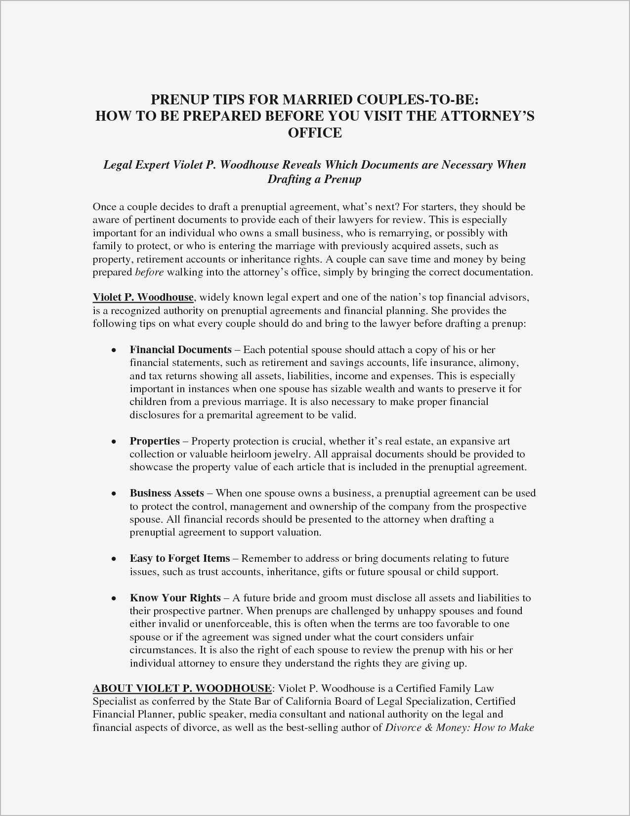 Prenuptial Agreement Sample Pdf