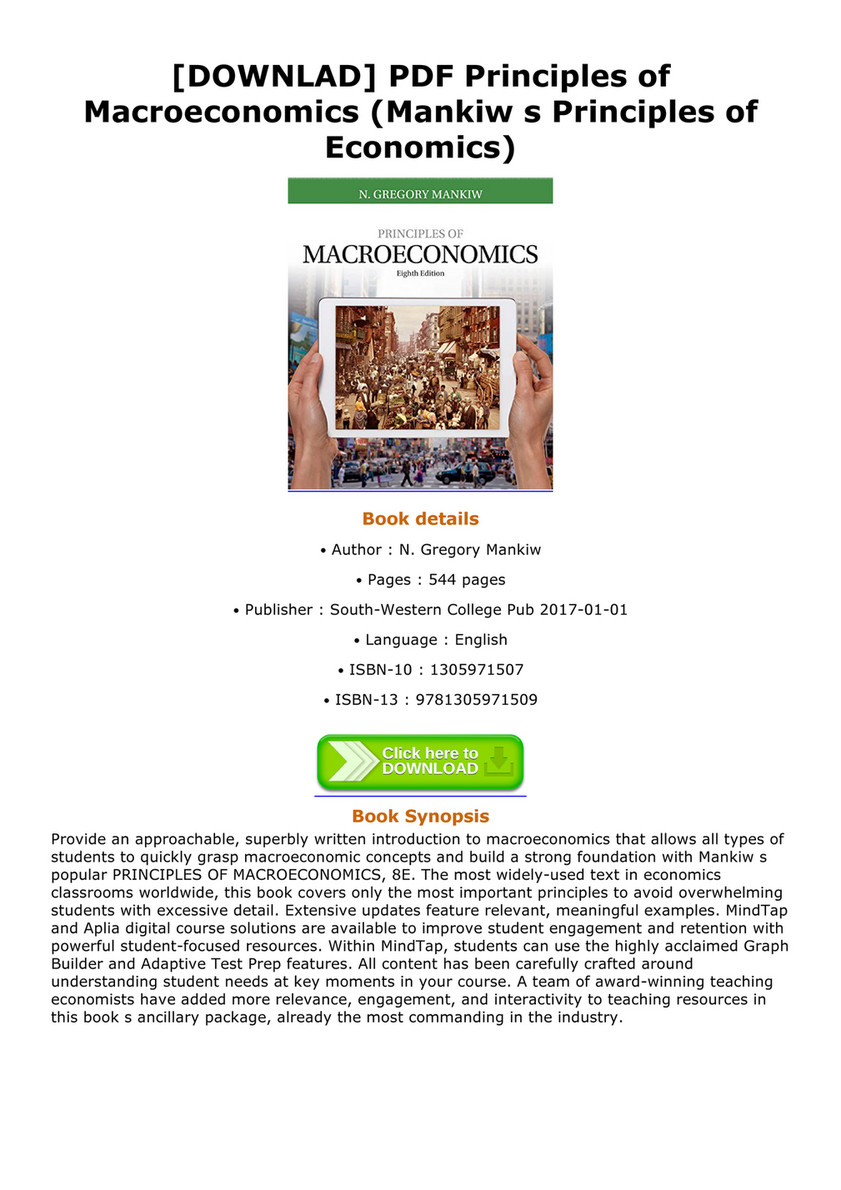 Principles Of Macroeconomics Mankiw Pdf