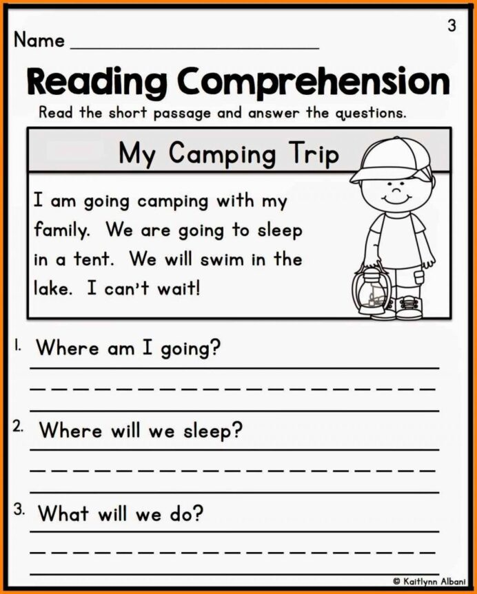 Printable Reading Comprehension For Grade 1 Pdf