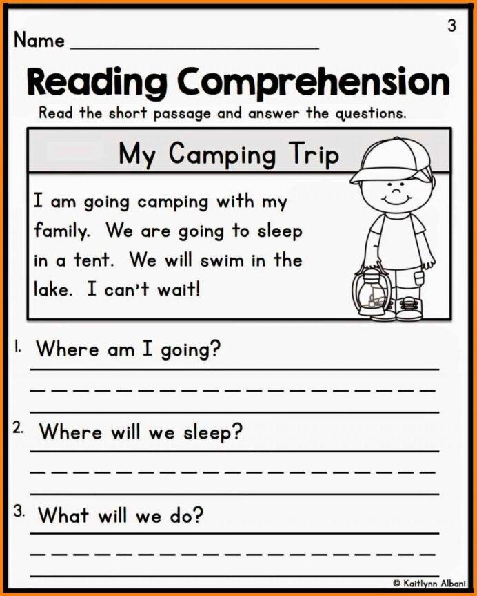 Printable Reading Comprehension For Grade 1 Pdf