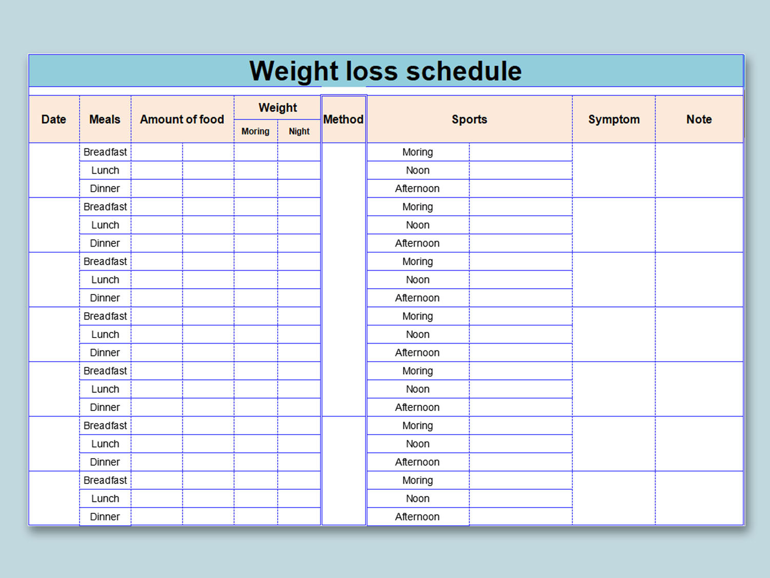 Printable Weight Loss Chart Pdf