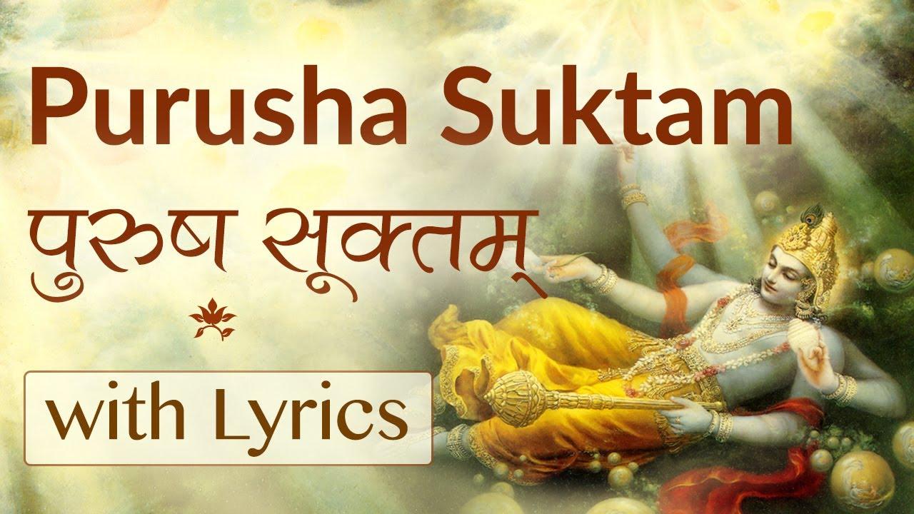Purusha Suktam Pdf