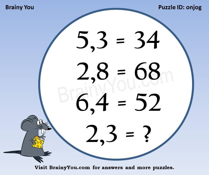 Puzzle Math Brain Teasers With Answers Pdf