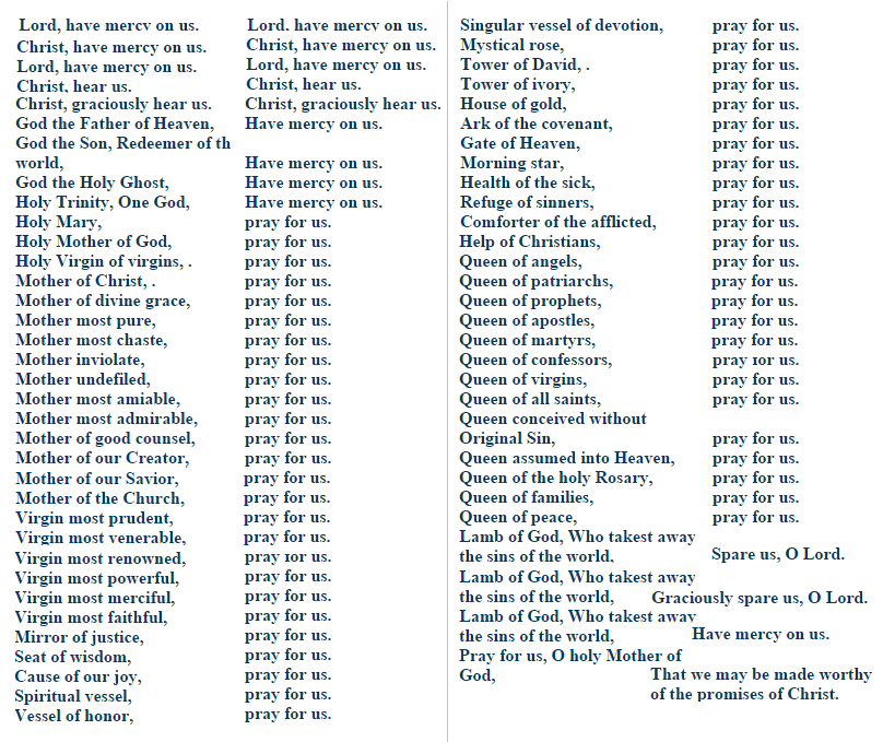 Rosary Booklet With Litany Pdf