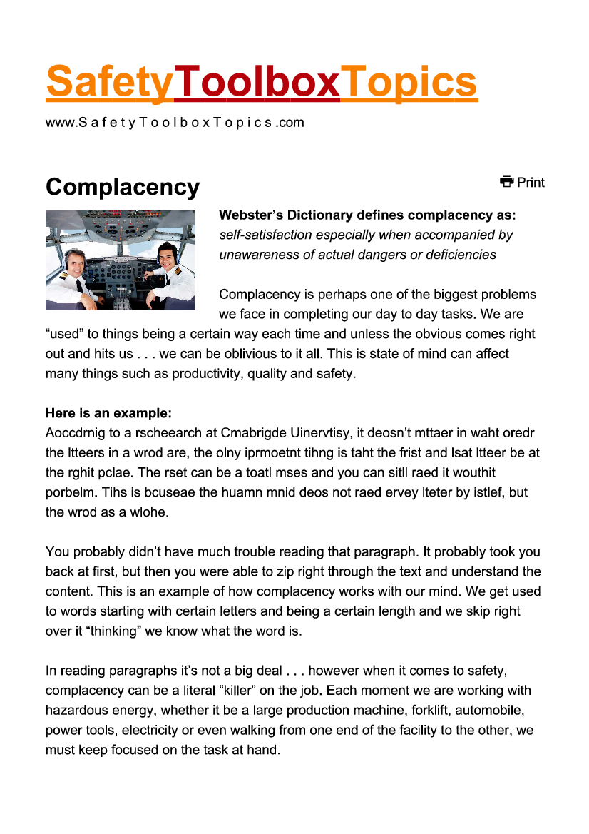 Safety Toolbox Talks Pdf