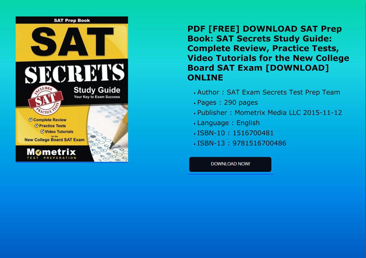 Sat Study Guide Pdf Free Download