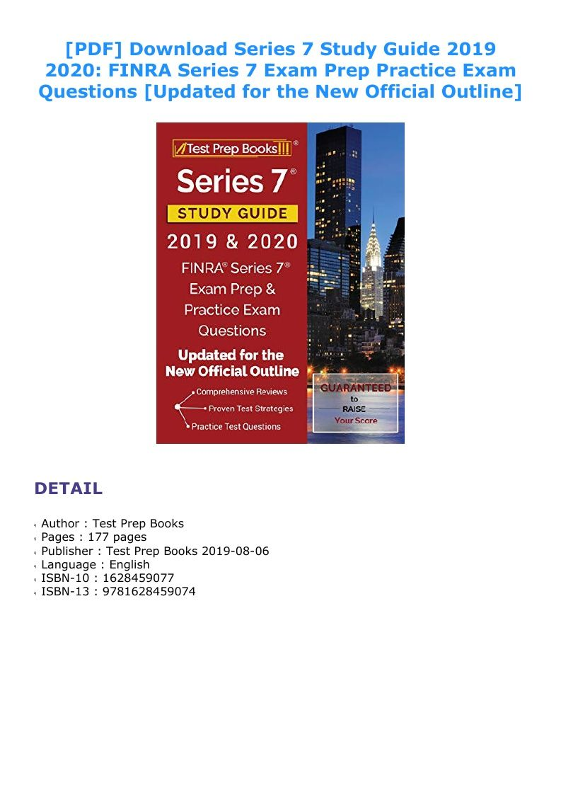 Series 7 Study Guide Pdf 2019