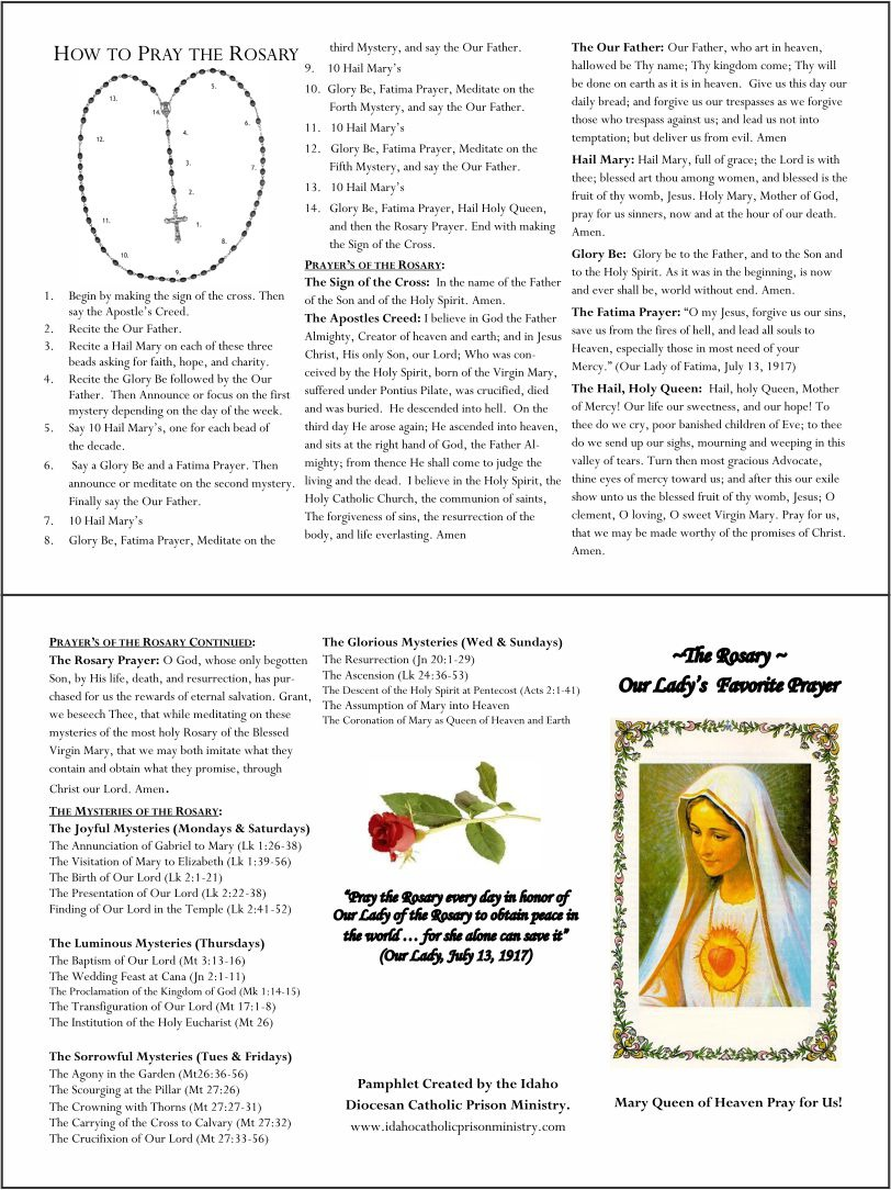 Seven Sorrows Rosary Booklet Pdf