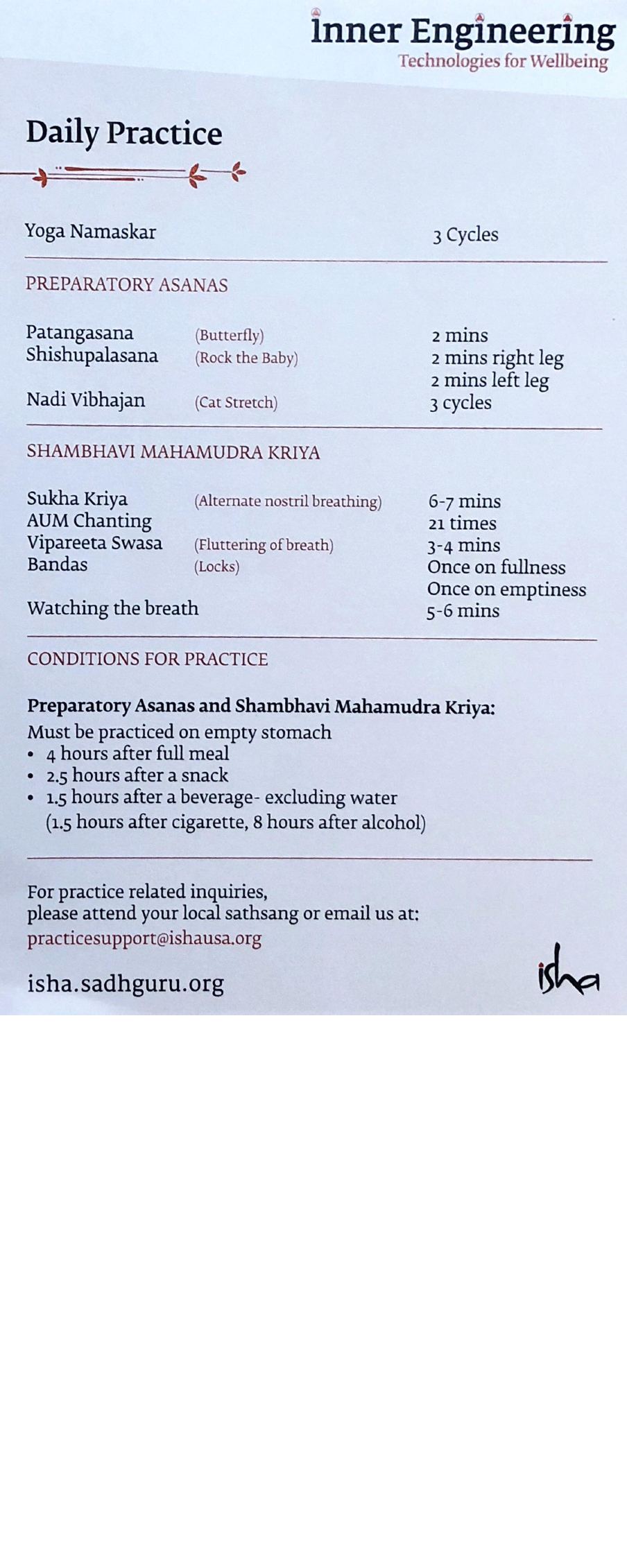 Shambhavi Mahamudra Kriya Steps In Pdf In English