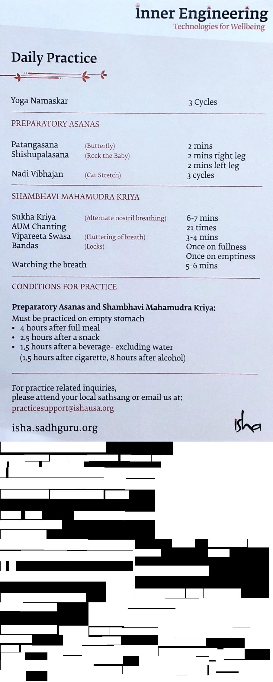 Shambhavi Mahamudra Kriya Steps In Pdf In English