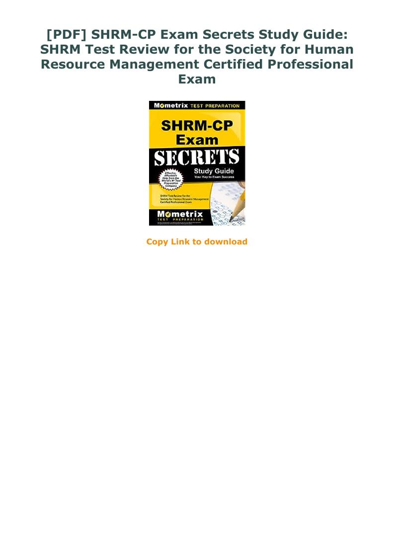Shrm Cp Study Guide Pdf