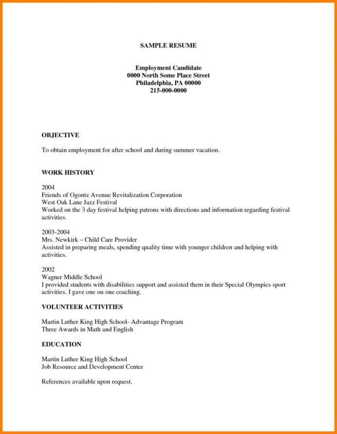 Simple Blank Resume Pdf