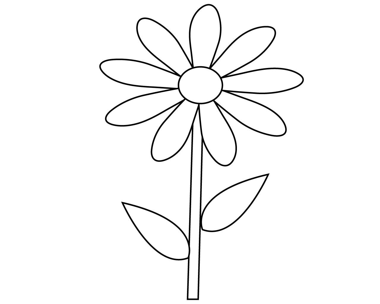 Simple Flower Coloring Pages Pdf
