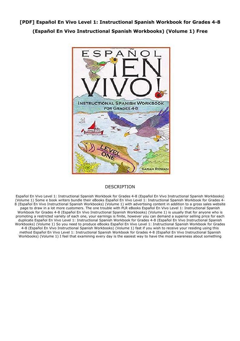 Spanish 1 Workbook Pdf
