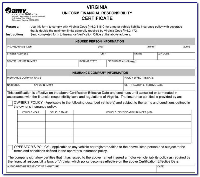 Sr22 Insurance Sr 22 Form Pdf
