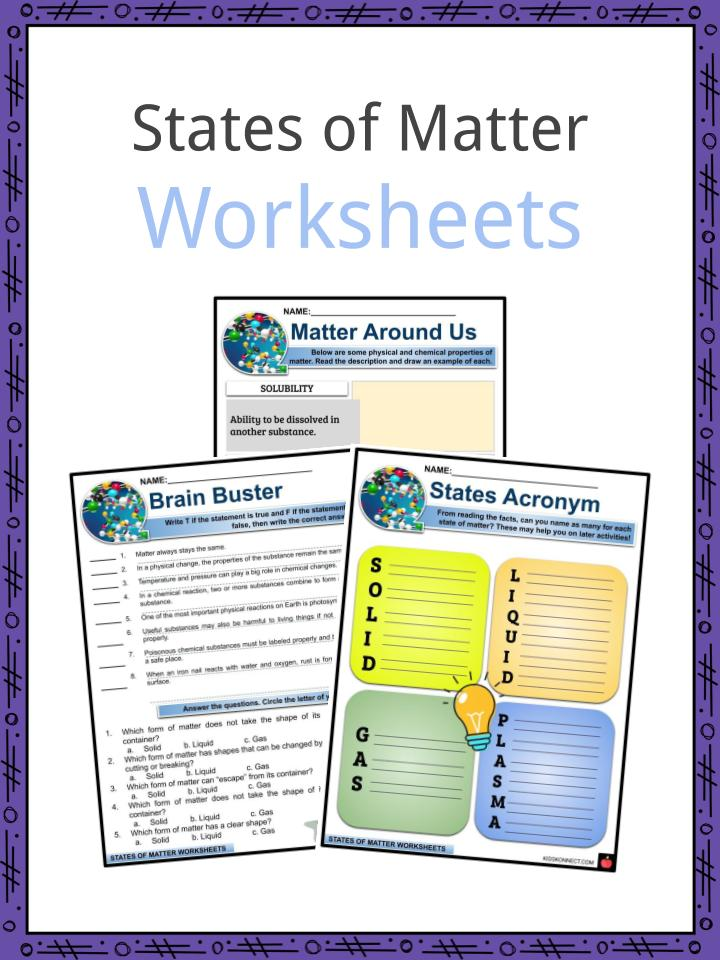 States Of Matter Worksheet Pdf Grade 3