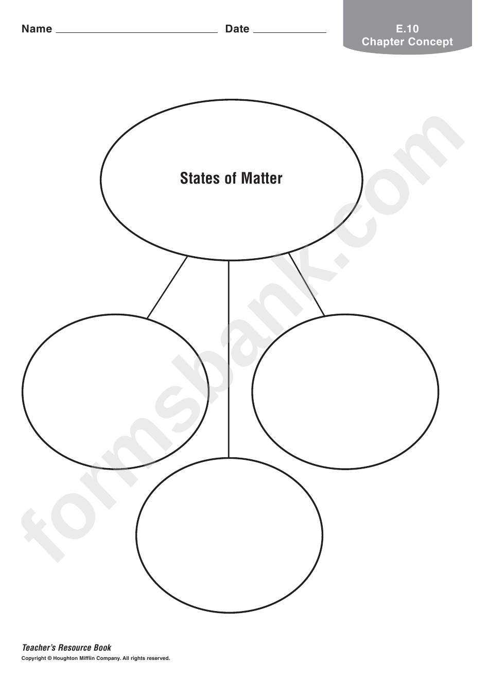 States Of Matter Worksheet Pdf
