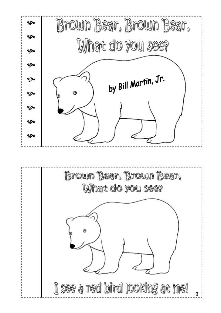 Story Brown Bear Brown Bear Printable Book Pdf
