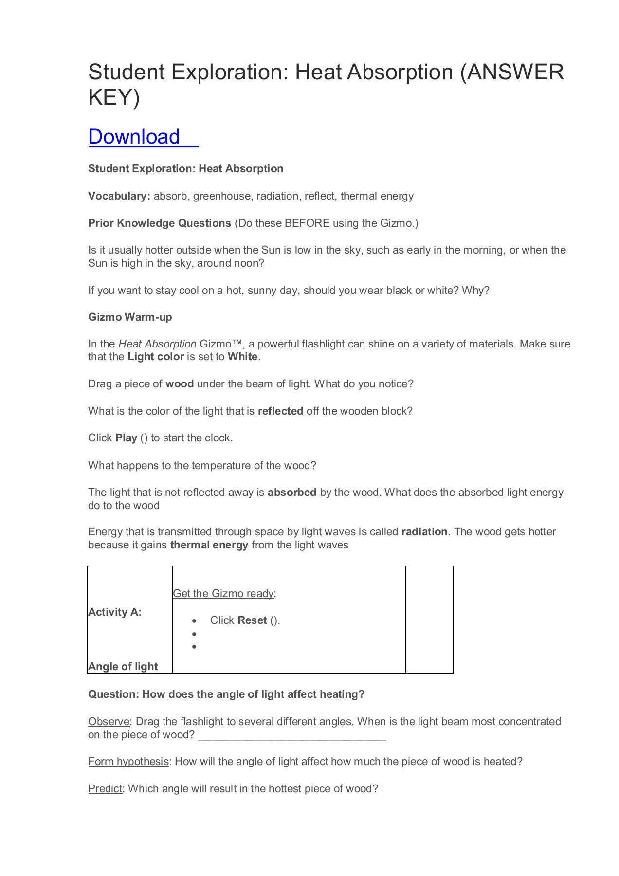 Student Exploration Waves Gizmo Worksheet Answer Key Pdf