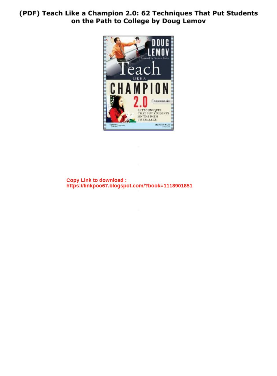 Teach Like A Champion 2.0 Pdf