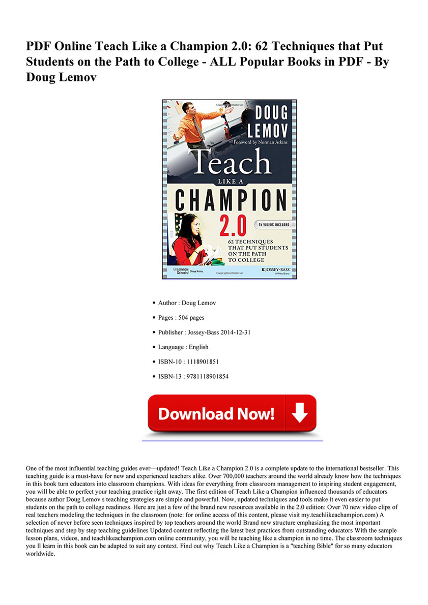 Teach Like A Champion 20 Pdf