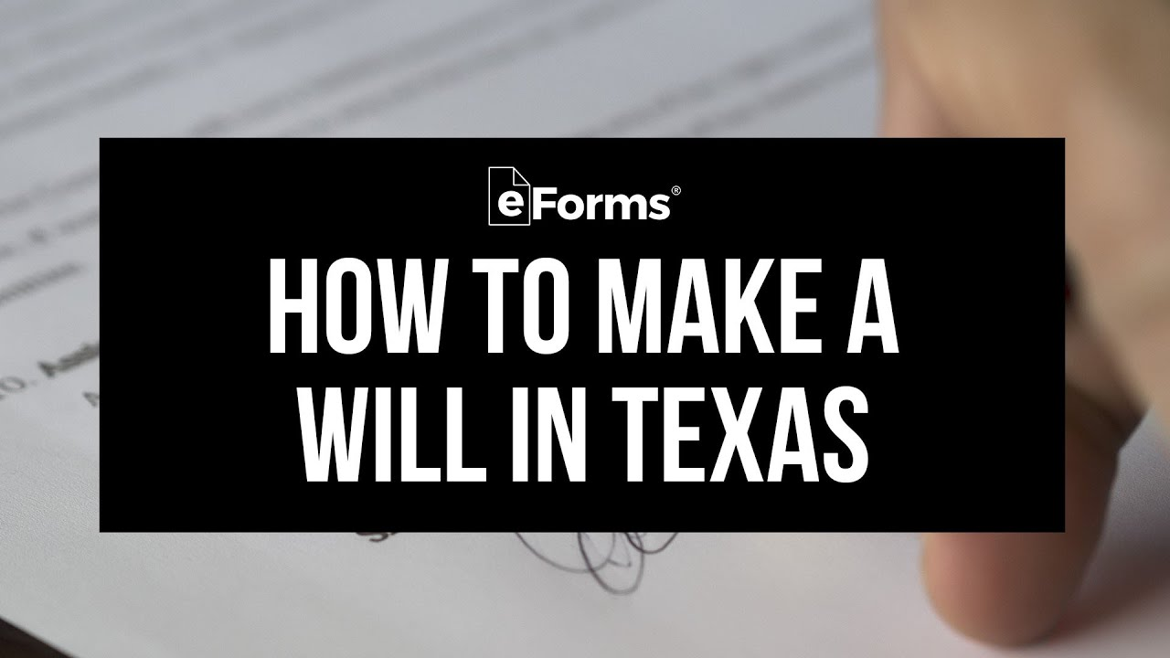 Texas Free Last Will And Testament Template Pdf