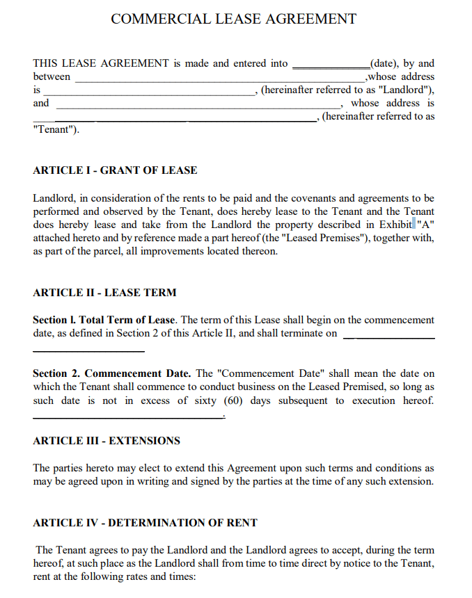 Texas Lease Agreement Pdf Free