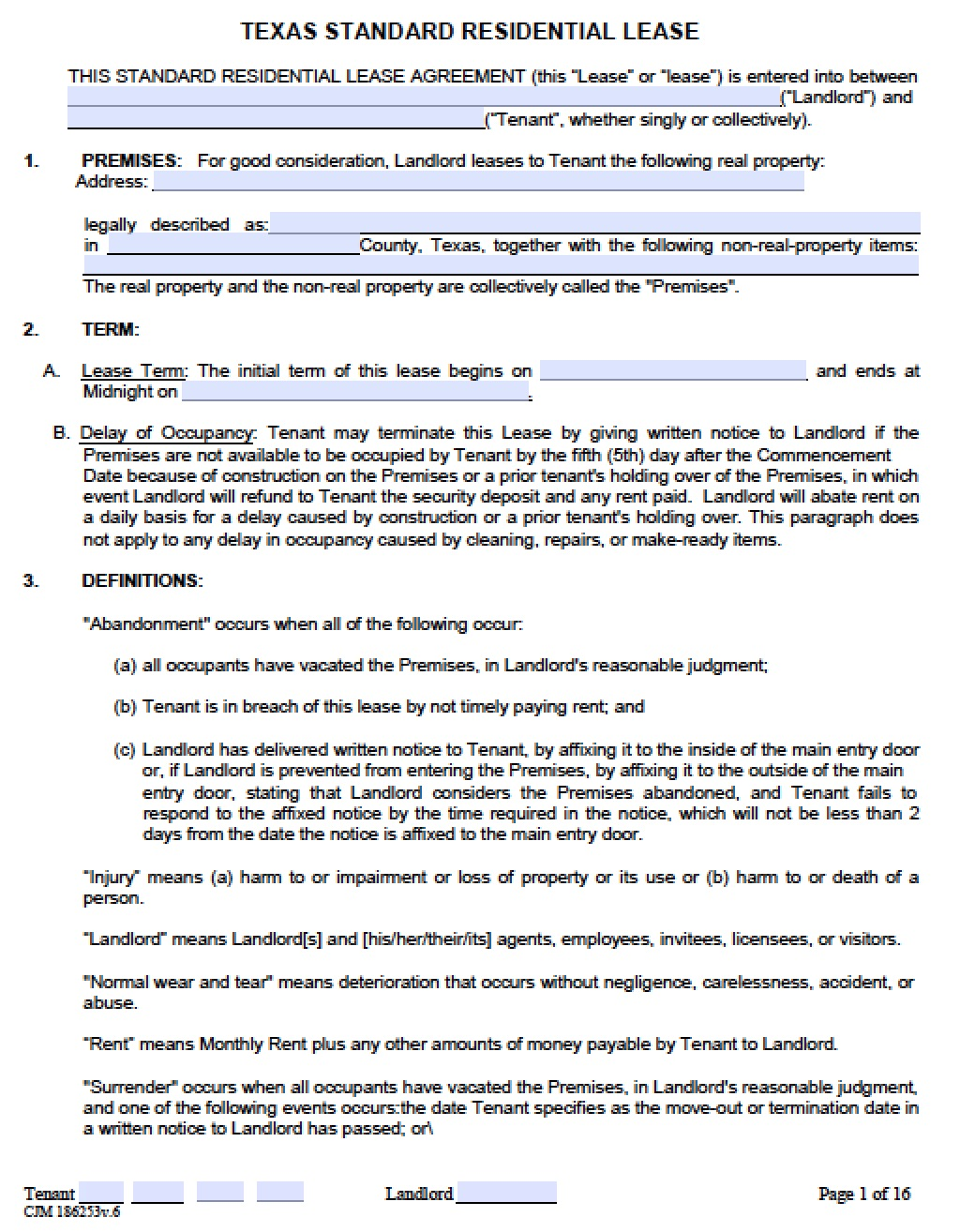Texas Lease Agreement Pdf