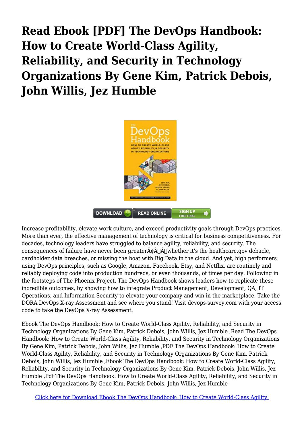 The Devops Handbook Pdf Free Download
