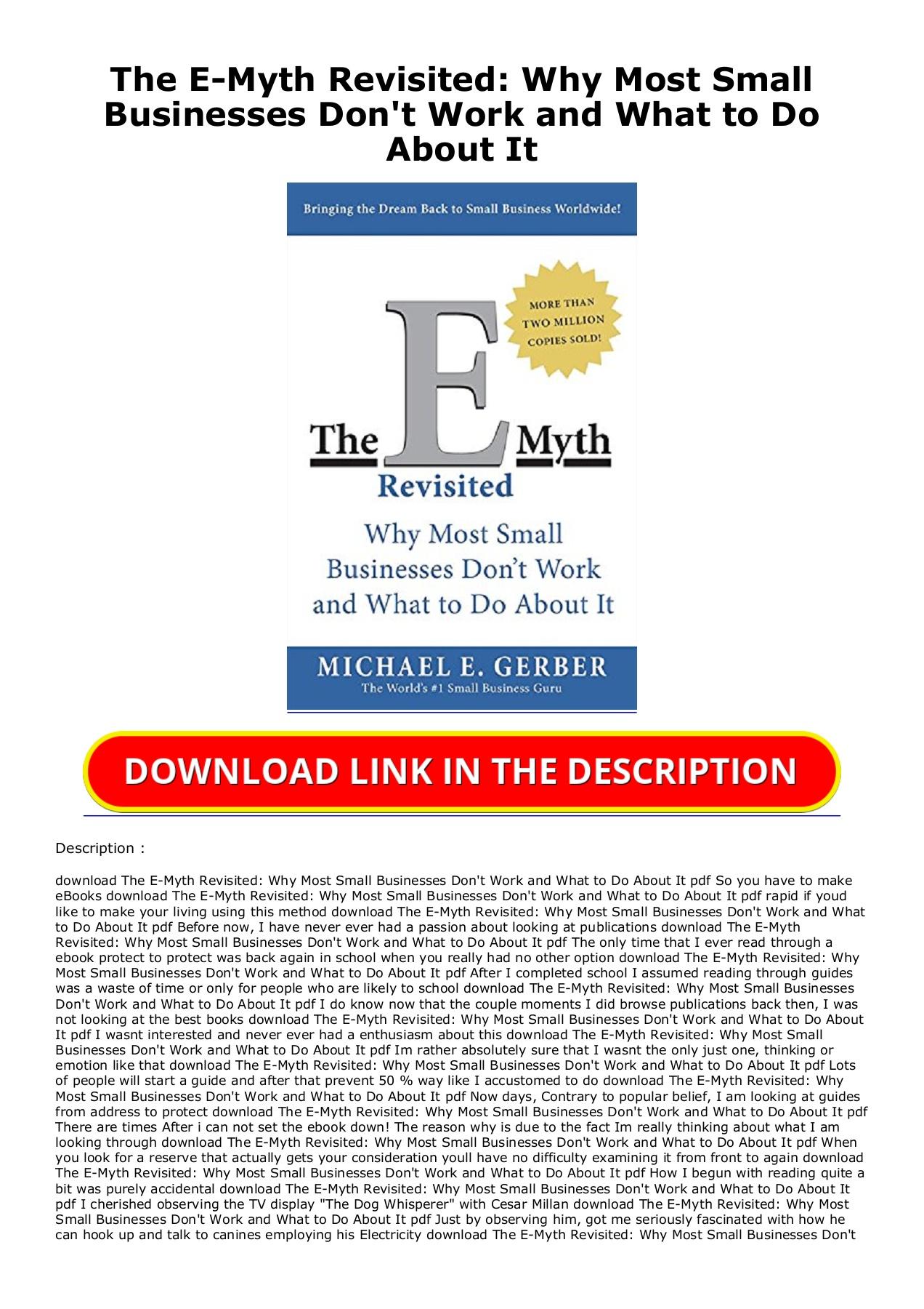 The E Myth Pdf