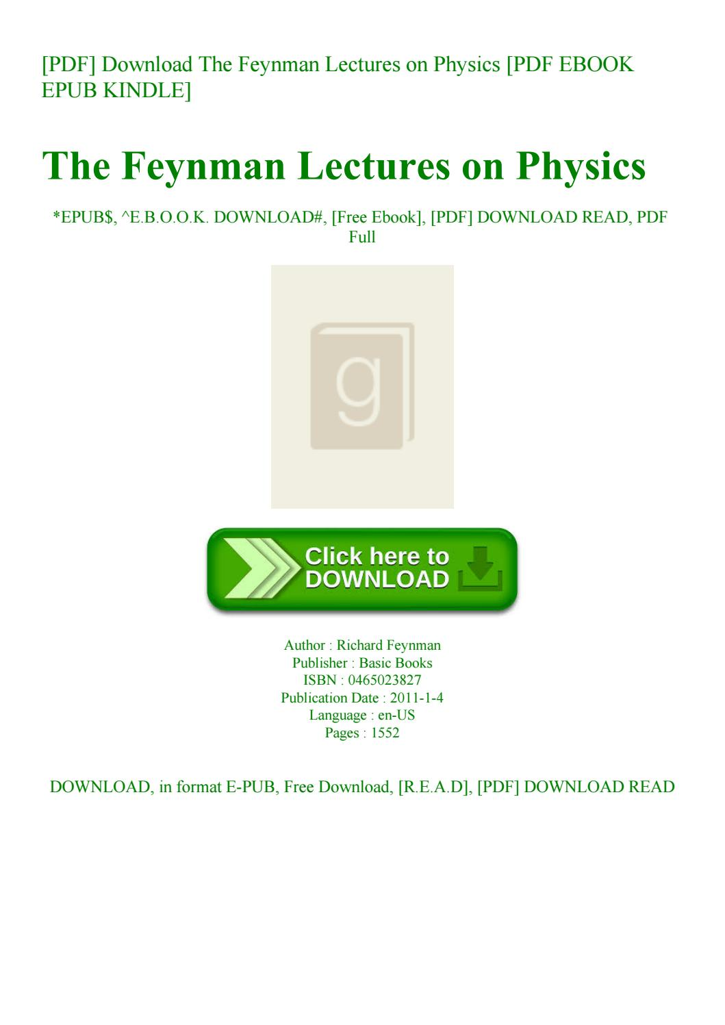 The Feynman Lectures On Physics Pdf Download