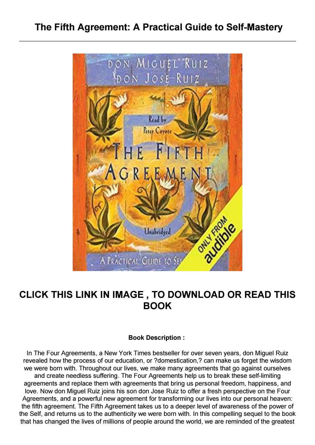 The Fifth Agreement Pdf Free