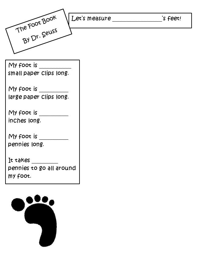 The Foot Book Activities Pdf