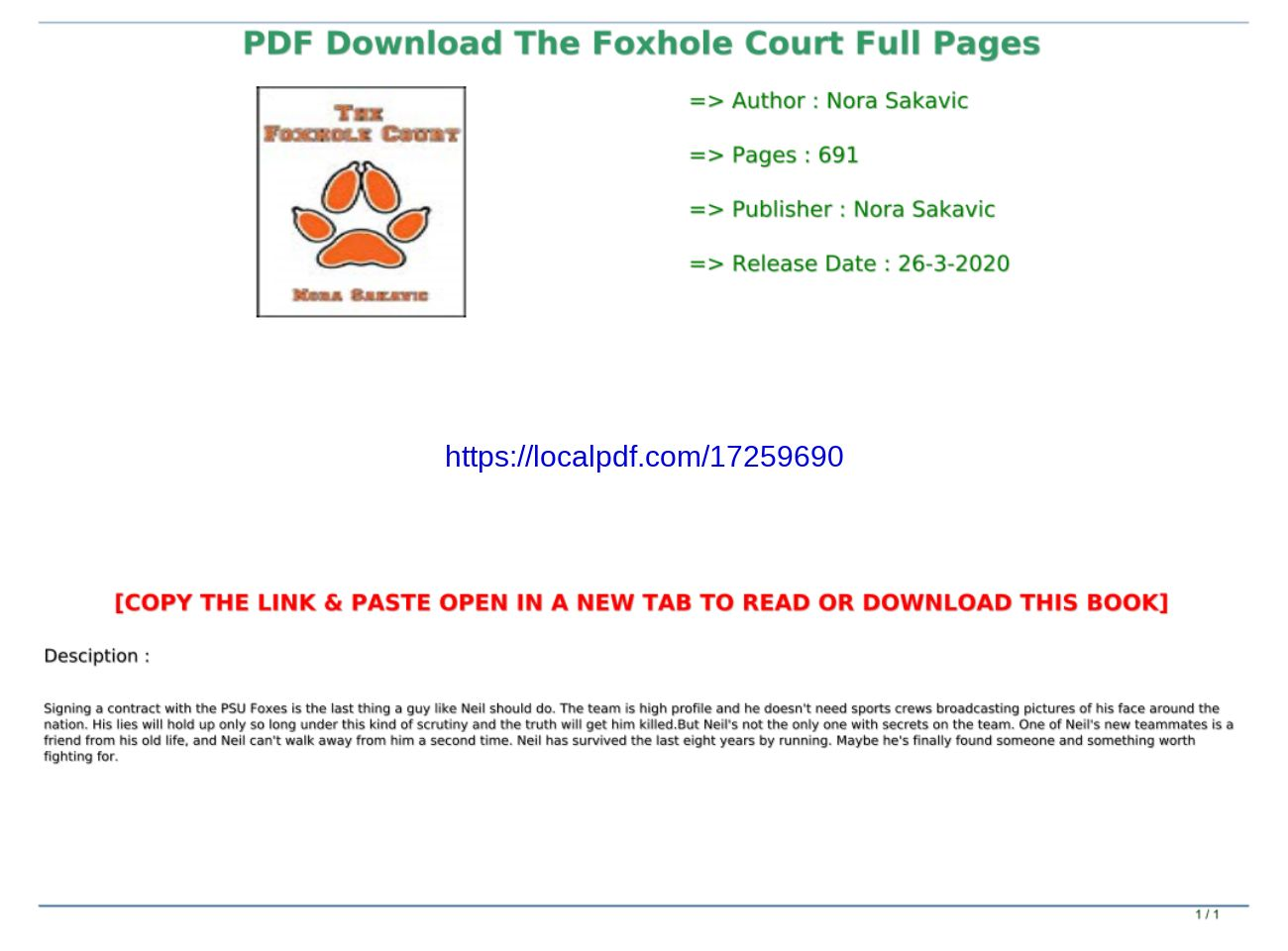 The Foxhole Court Pdf