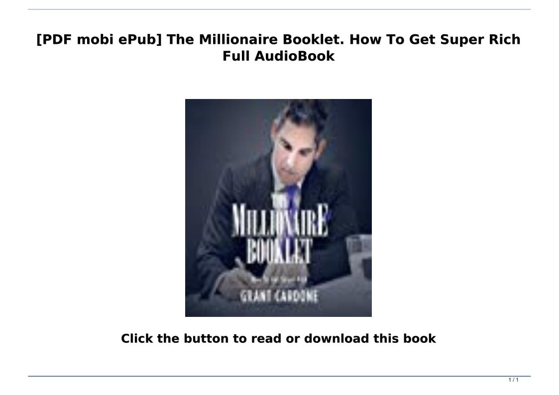 The Millionaire Booklet Pdf