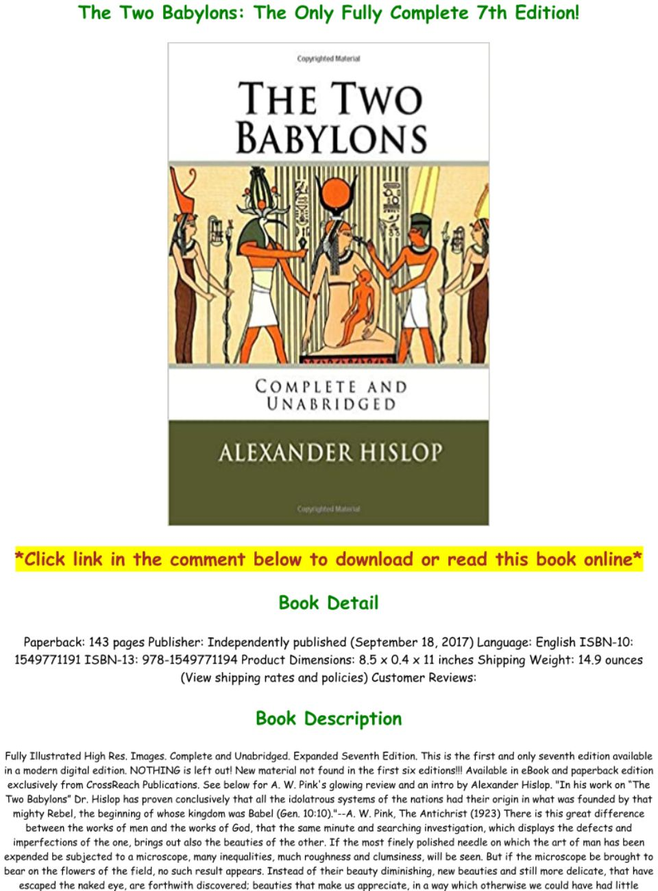 The Two Babylons Pdf Free Download