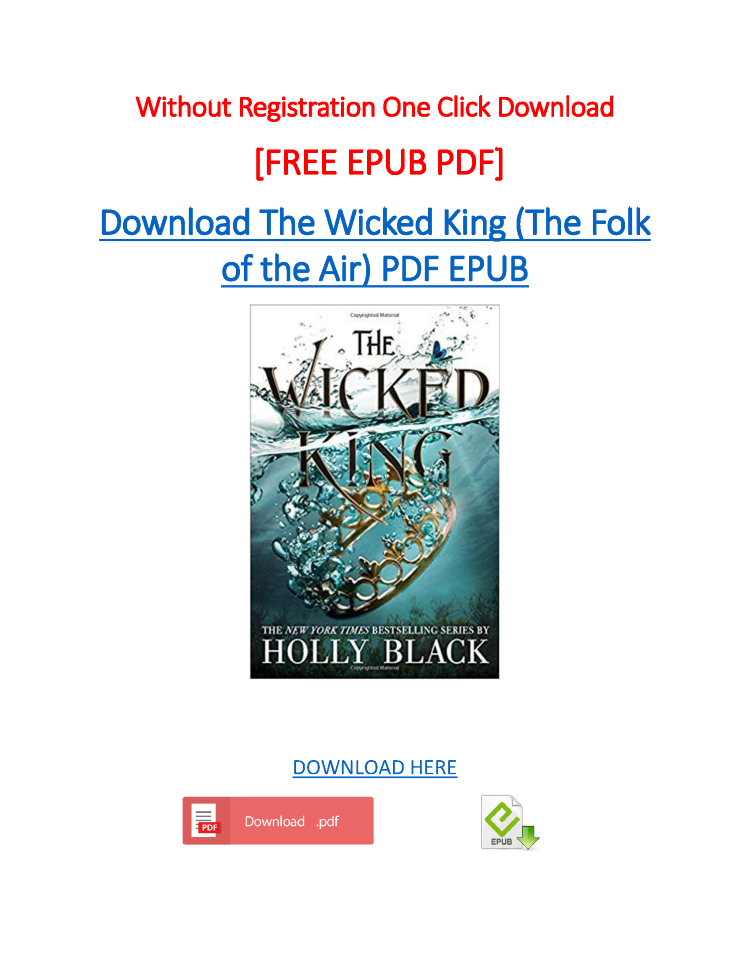 The Wicked King Pdf