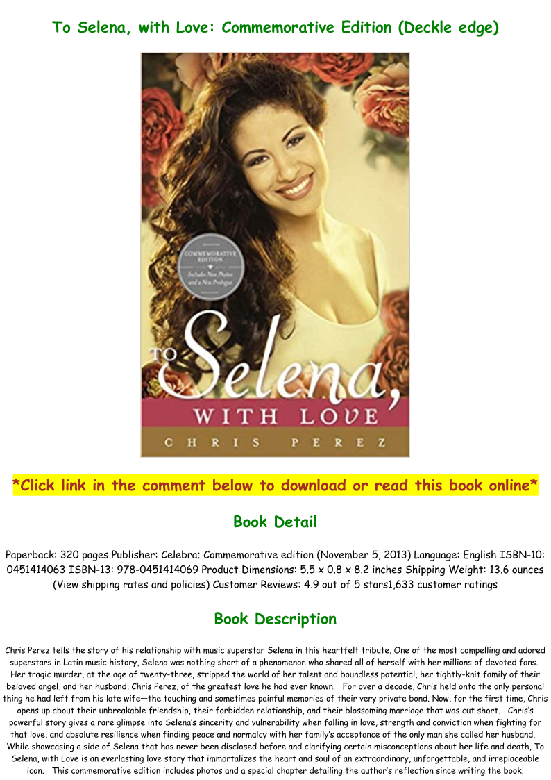To Selena With Love Pdf Online