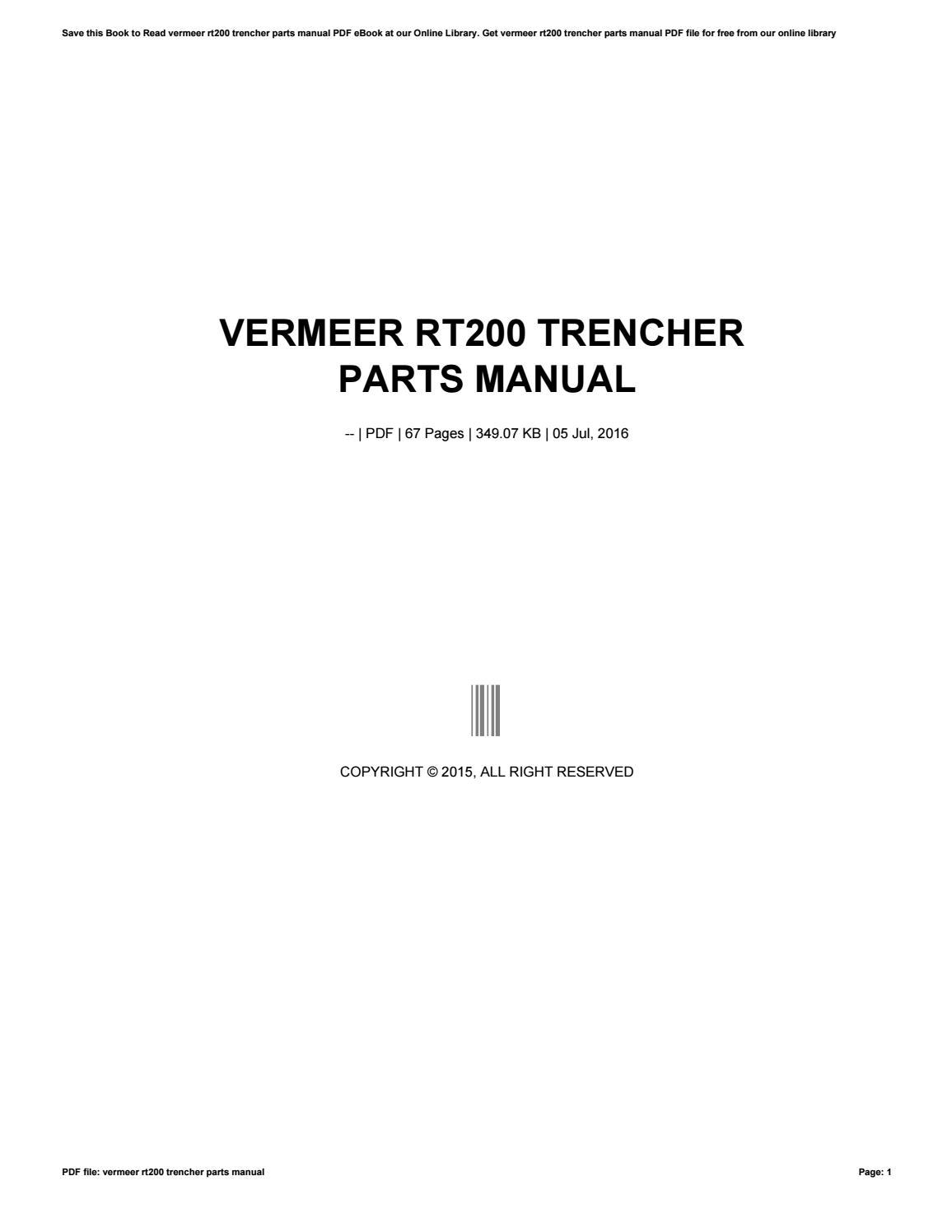 Vermeer Manuals Pdf