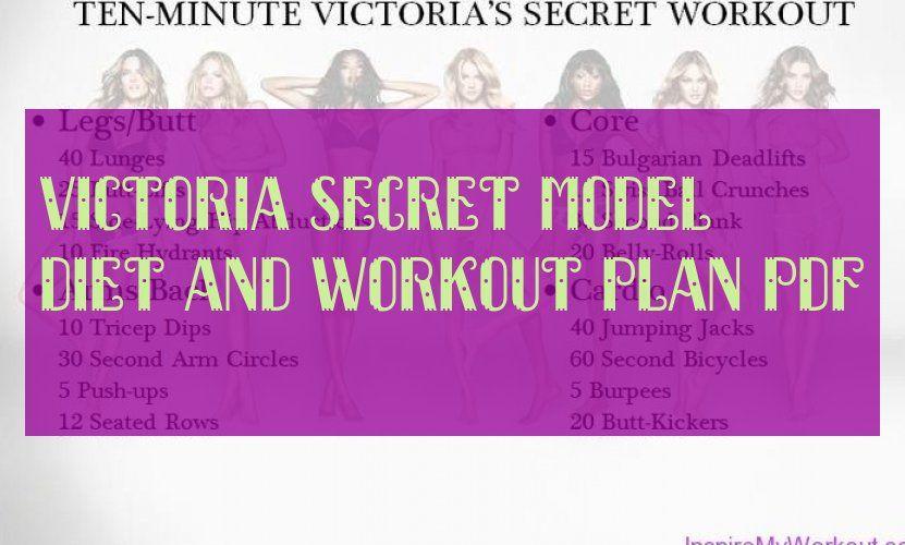 Victoria Secret Model Workout Plan Pdf