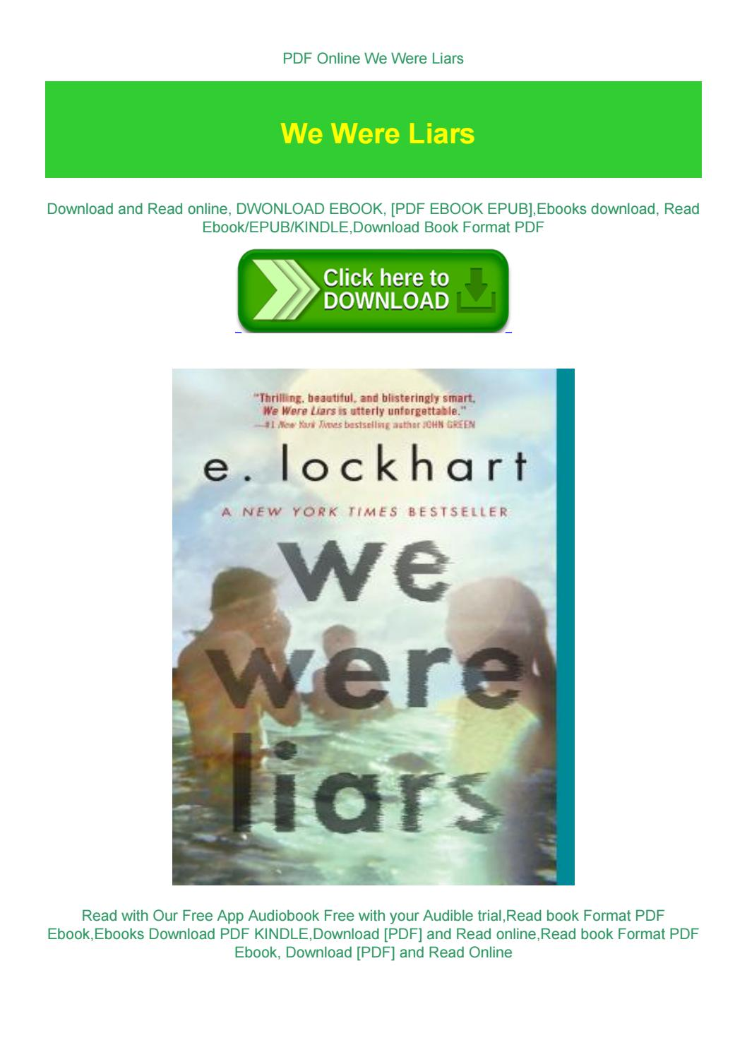 We Were Liars Pdf Online