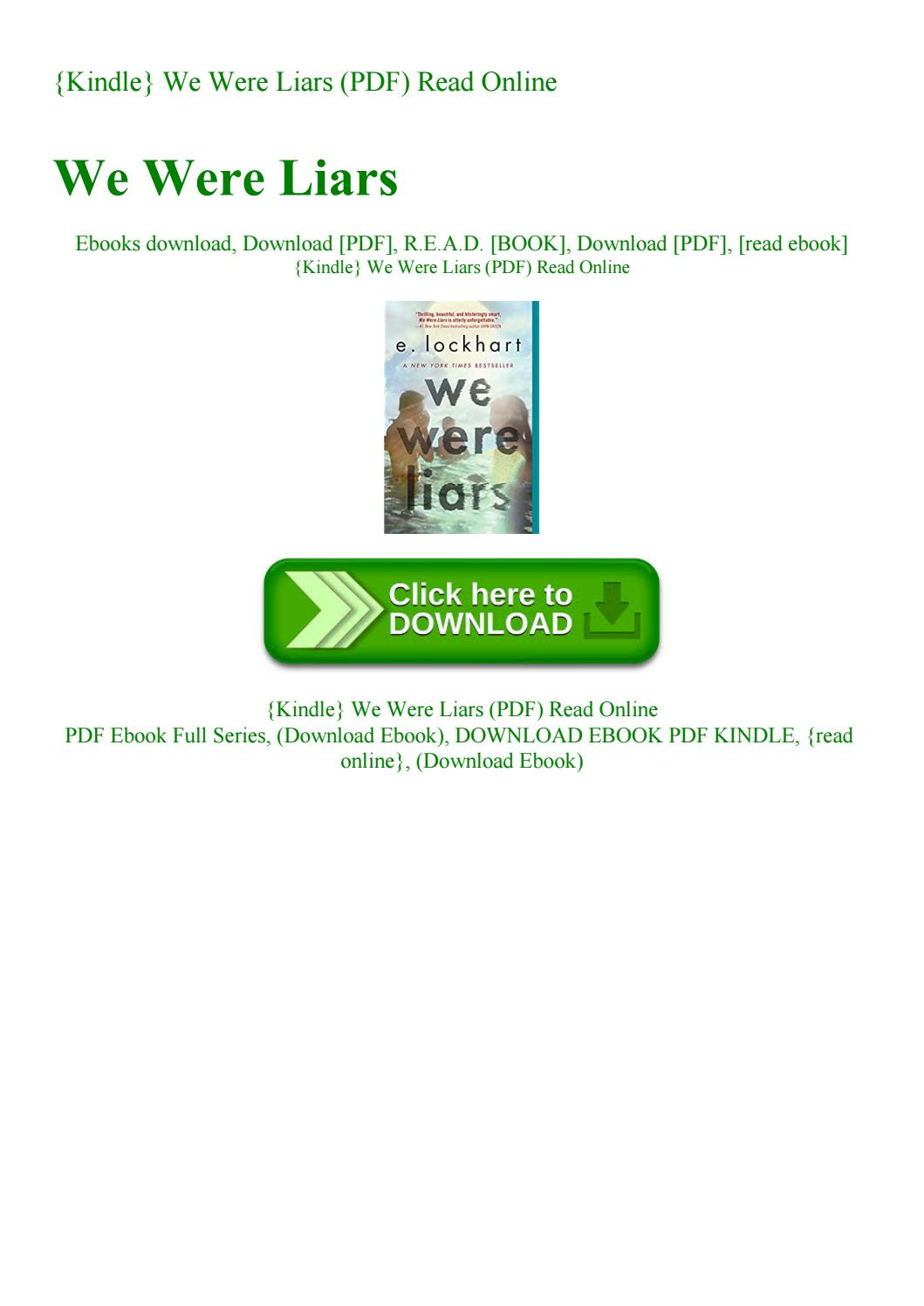 We Were Liars Pdf